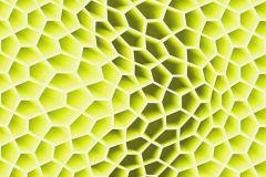 32709-1 cikkszámú tapéta.3d hatású,geometriai mintás,különleges motívumos,szürke,zöld,súrolható,vlies tapéta