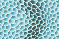 32709-2 cikkszámú tapéta.Különleges motívumos,3d hatású,geometriai mintás,fehér,kék,szürke,súrolható,vlies tapéta