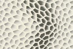 32709-3 cikkszámú tapéta.3d hatású,geometriai mintás,különleges motívumos,fehér,szürke,súrolható,vlies tapéta