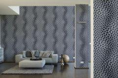 32709-4 cikkszámú tapéta.3d hatású,geometriai mintás,különleges motívumos,fehér,fekete,lila,szürke,súrolható,vlies tapéta