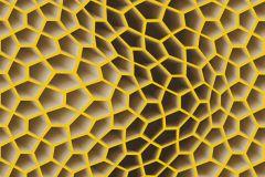 32709-5 cikkszámú tapéta.3d hatású,geometriai mintás,különleges motívumos,barna,sárga,súrolható,vlies tapéta