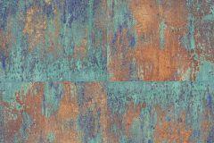 36118-1 cikkszámú tapéta.Absztrakt,fémhatású - indusztriális,fotórealisztikus,különleges motívumos,bronz,kék,türkiz,súrolható,vlies tapéta