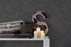 36154-1 cikkszámú tapéta.Absztrakt,fémhatású - indusztriális,kőhatású-kőmintás,fekete,szürke,lemosható,vlies tapéta