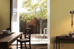 36329-4 cikkszámú tapéta.Különleges felületű,textilmintás,sárga,súrolható,vlies tapéta