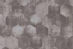 36330-2 cikkszámú tapéta.Absztrakt,fémhatású - indusztriális,geometriai mintás,ezüst,szürke,súrolható,vlies tapéta