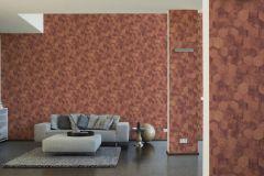 36330-5 cikkszámú tapéta.Absztrakt,fémhatású - indusztriális,geometriai mintás,narancs-terrakotta,piros-bordó,súrolható,vlies tapéta