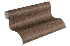 36332-4 cikkszámú tapéta.Fa hatású-fa mintás,különleges felületű,barna,súrolható,vlies tapéta