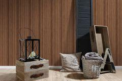 36333-3 cikkszámú tapéta.Fa hatású-fa mintás,különleges felületű,barna,súrolható,illesztés mentes,vlies tapéta