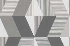 30395-1 cikkszámú tapéta.Csíkos,geometriai mintás,barna,fehér,szürke,lemosható,vlies tapéta