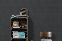 30396-5 cikkszámú tapéta.Barokk-klasszikus,csillámos,fekete,lemosható,vlies tapéta