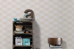 30398-1 cikkszámú tapéta.3d hatású,geometriai mintás,bézs-drapp,fehér,lemosható,vlies tapéta