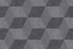 30398-3 cikkszámú tapéta.3d hatású,geometriai mintás,fekete,szürke,lemosható,vlies tapéta