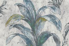 30456-1 cikkszámú tapéta.Természeti mintás,virágmintás,fehér,kék,sárga,szürke,zöld,lemosható,vlies tapéta