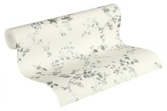 36896-2 cikkszámú tapéta.Különleges felületű,természeti mintás,virágmintás,ezüst,fehér,szürke,lemosható,vlies tapéta