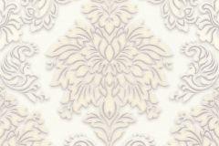 36898-2 cikkszámú tapéta.Barokk-klasszikus,csillámos,különleges felületű,bézs-drapp,ezüst,fehér,vajszín,lemosható,vlies tapéta