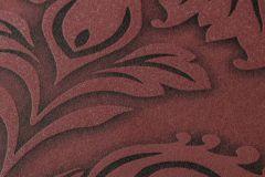 36898-3 cikkszámú tapéta.Barokk-klasszikus,csillámos,különleges felületű,piros-bordó,szürke,lemosható,vlies tapéta
