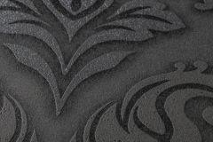 36898-4 cikkszámú tapéta.Barokk-klasszikus,csillámos,különleges felületű,ezüst,fekete,szürke,lemosható,vlies tapéta
