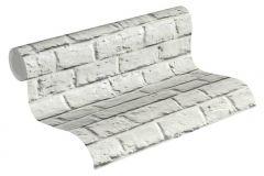 36912-2 cikkszámú tapéta.Konyha-fürdőszobai,kőhatású-kőmintás,különleges felületű,szürke,fehér,súrolható,vlies tapéta