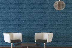 36912-3 cikkszámú tapéta.Konyha-fürdőszobai,kőhatású-kőmintás,különleges felületű,kék,súrolható,vlies tapéta