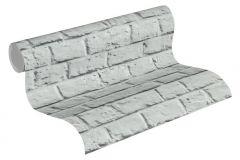 36912-4 cikkszámú tapéta.Konyha-fürdőszobai,kőhatású-kőmintás,különleges felületű,szürke,súrolható,vlies tapéta