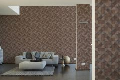 36913-1 cikkszámú tapéta.Fa hatású-fa mintás,geometriai mintás,különleges felületű,barna,bézs-drapp,súrolható,vlies tapéta