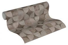 36913-2 cikkszámú tapéta.Fa hatású-fa mintás,geometriai mintás,különleges felületű,barna,szürke,súrolható,vlies tapéta