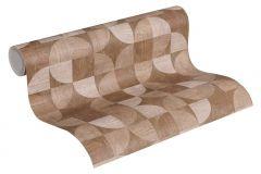 36913-4 cikkszámú tapéta.Fa hatású-fa mintás,geometriai mintás,különleges felületű,bézs-drapp,szürke,súrolható,vlies tapéta