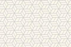 36920-3 cikkszámú tapéta.Csillámos,geometriai mintás,különleges felületű,ezüst,fehér,lemosható,vlies tapéta