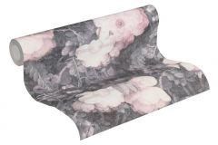 36921-2 cikkszámú tapéta.Barokk-klasszikus,különleges felületű,természeti mintás,virágmintás,lila,pink-rózsaszín,szürke,súrolható,vlies tapéta