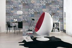 36923-2 cikkszámú tapéta.állatok,konyha-fürdőszobai,különleges felületű,fehér,fekete,kék,lila,súrolható,vlies tapéta