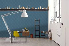 36926-4 cikkszámú tapéta.Absztrakt,geometriai mintás,különleges felületű,ezüst,fehér,kék,súrolható,vlies tapéta