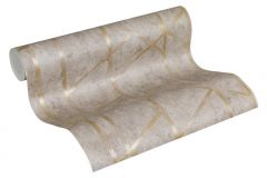 36928-3 cikkszámú tapéta.Absztrakt,különleges felületű,arany,szürke,súrolható,vlies tapéta
