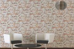 36929-1 cikkszámú tapéta.Kőhatású-kőmintás,különleges felületű,fehér,narancs-terrakotta,sárga,szürke,súrolható,vlies tapéta