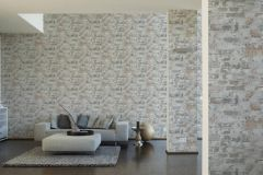 36929-2 cikkszámú tapéta.Kőhatású-kőmintás,különleges felületű,fehér,narancs-terrakotta,szürke,súrolható,vlies tapéta