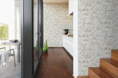 36929-3 cikkszámú tapéta.Kőhatású-kőmintás,különleges felületű,fehér,szürke,súrolható,vlies tapéta