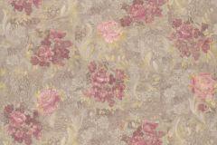 30670-2 cikkszámú tapéta.Barokk-klasszikus,virágmintás,arany,barna,piros-bordó,súrolható,vlies tapéta