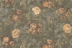 30670-4 cikkszámú tapéta.Barokk-klasszikus,virágmintás,barna,narancs-terrakotta,zöld,súrolható,vlies tapéta