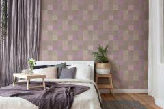 37406-2 cikkszámú tapéta.Konyha-fürdőszobai,marokkói ,barna,bézs-drapp,lila,súrolható,vlies tapéta