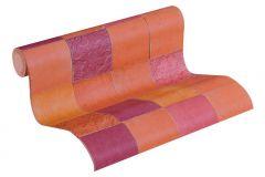 37406-5 cikkszámú tapéta.Konyha-fürdőszobai,marokkói ,narancs-terrakotta,pink-rózsaszín,piros-bordó,súrolható,vlies tapéta