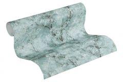 37420-3 cikkszámú tapéta.Csillámos,természeti mintás,ezüst,türkiz,súrolható,vlies tapéta