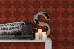 37421-1 cikkszámú tapéta.Marokkói ,fekete,narancs-terrakotta,súrolható,vlies tapéta