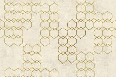37424-2 cikkszámú tapéta.Absztrakt,geometriai mintás,arany,bézs-drapp,súrolható,vlies tapéta