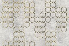37424-4 cikkszámú tapéta.Absztrakt,geometriai mintás,arany,szürke,súrolható,vlies tapéta