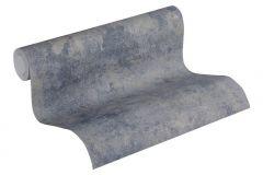 37425-5 cikkszámú tapéta.Beton,egyszínű,kék,szürke,súrolható,vlies tapéta