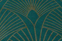 37427-5 cikkszámú tapéta.Absztrakt,arany,türkiz,súrolható,vlies tapéta