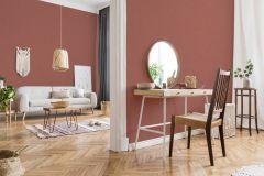 37430-9 cikkszámú tapéta.Egyszínű,textilmintás,narancs-terrakotta,súrolható,illesztés mentes,vlies tapéta