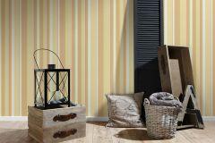 30260-3 cikkszámú tapéta.Csíkos,barna,bézs-drapp,fehér,pink-rózsaszín,sárga,súrolható,illesztés mentes,vlies tapéta