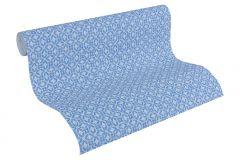 30269-1 cikkszámú tapéta.Geometriai mintás,különleges motívumos,fehér,kék,súrolható,vlies tapéta
