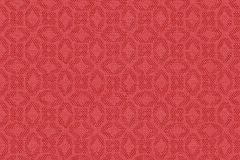 30269-2 cikkszámú tapéta.Geometriai mintás,különleges motívumos,piros-bordó,súrolható,vlies tapéta