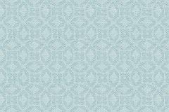 30269-3 cikkszámú tapéta.Geometriai mintás,különleges motívumos,kék,türkiz,zöld,súrolható,vlies tapéta